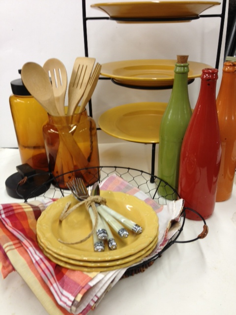 kitchen accessories in yellow