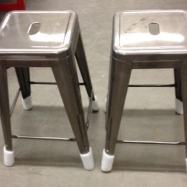 bar stools counter height brushed metal