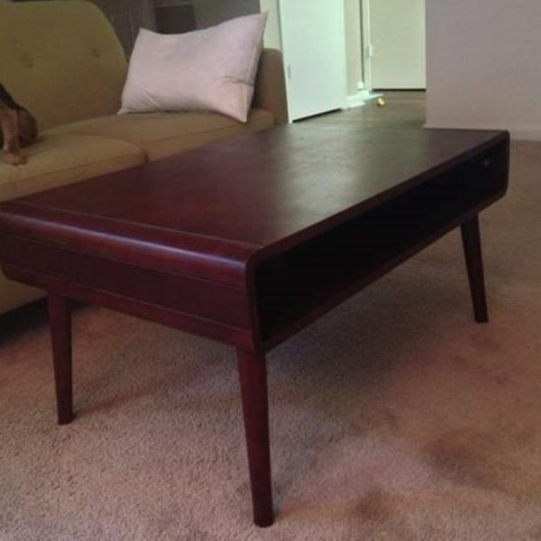 coffee table dark wood open ikea