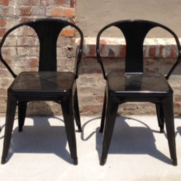 patio black metal chairs (4)
