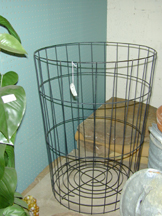 wire trash basket