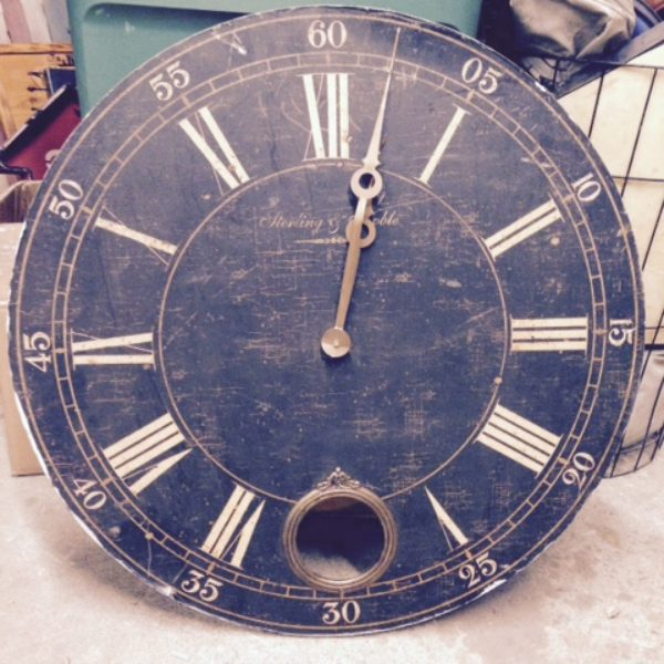 CL distressed wood clock