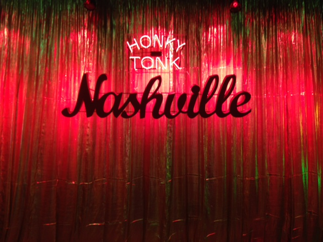 Honky Tonk set Band backdrop CFR